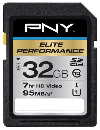 SD PNY Elite Performance 32 GB High Speed SDHC Class 10 UHS-I, U1