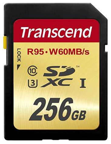 SD Transcend 256 GB High Speed 10 UHS-3 Flash Memory Card 95_60 MB_s (TS256GSDU3)