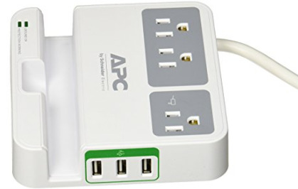 Surge Protector 1080 Joule with 3 USB - APC P3U3