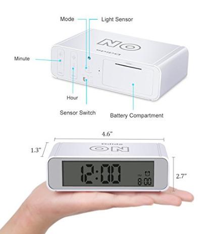 Clock Flip alarm clock,Ddida Travel Alarm Clock