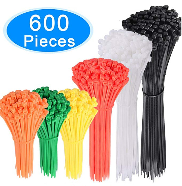 Zip Ties AUSTOR 600 Pieces Colored A
