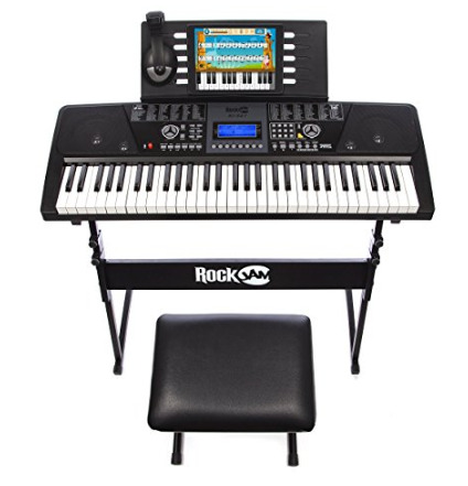 Keyboard Kit RockJam 61-Key Electronic Keyboard SuperKit