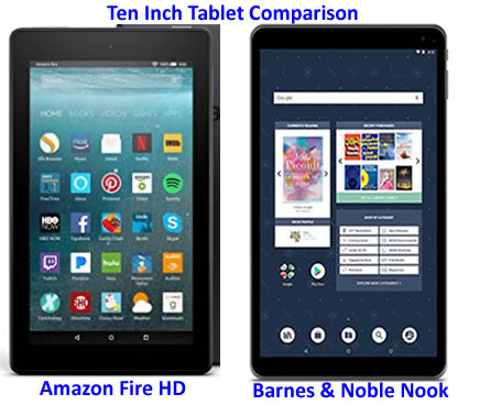Which is Best New Tablet: Fire HD or Nook?