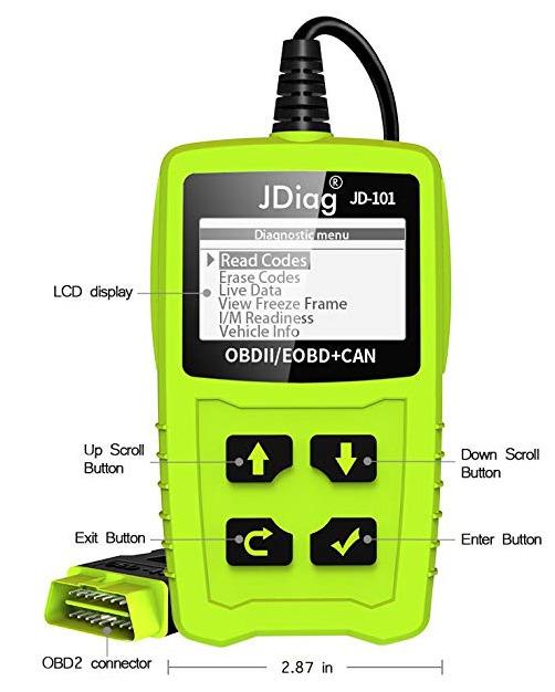 OBD2 Scanner JDiag Car Engine Code Reader OBD Diagnostic Tool