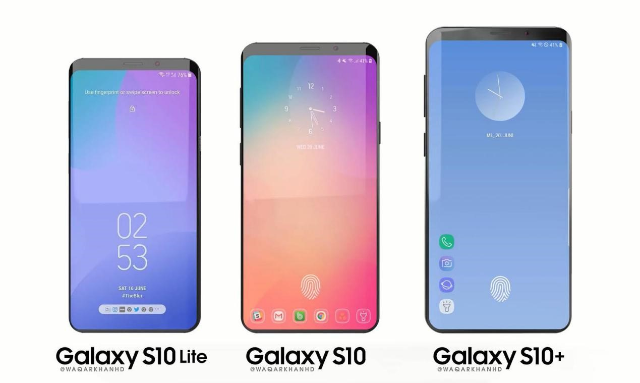 The Galaxy S10 Lite, S10, and S10+, set for release this year